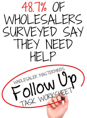 Wholesaler Masterminds Follow-up Task Worksheet